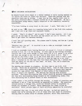 Document: Sydney Shulemson Recollections - Page 1