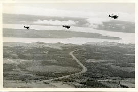 Ariel Photo: Three Aircraft Over Roadway