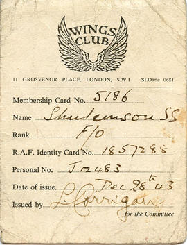 Document: Wings Club Membership Card