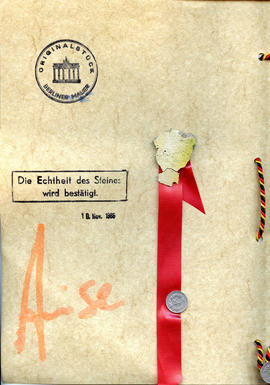 Document: Berlin Wall Certificate of Authenticity - Page 2