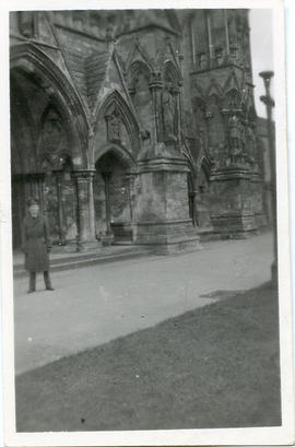 Photo: RCAF Airman in Front of Church