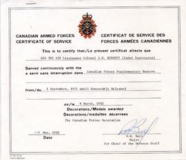 Document: Canadian Armed Forces Certificate