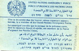 Document: UN ID Card - Back