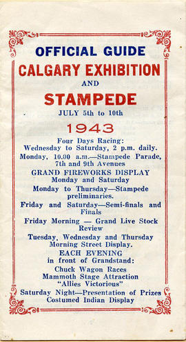 Document: Calgary Exhibition and Stampede Schedule - Cover