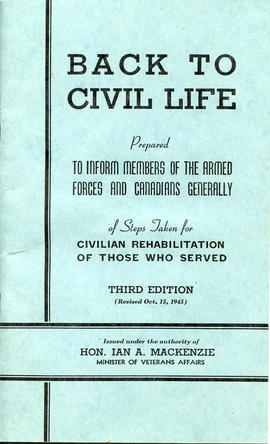 Document: Back to Civil Life Pamphlet