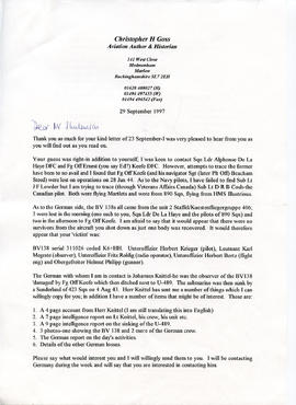 Document: Letter from Christopher H Goss - Page 1