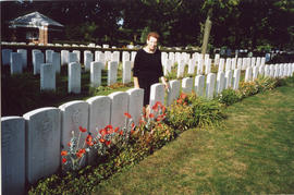 Photo: War Graves in Summer with Woman