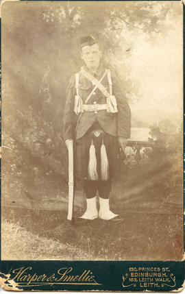 Photo: Young Man in Highlander Uniform