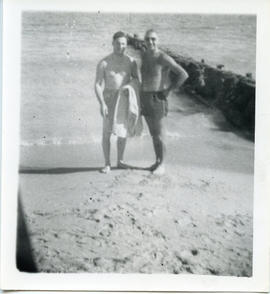 Photo: Shulemson with Brother on Beach