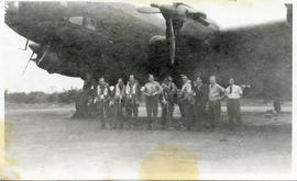Photo: Bomber Crew Under Next to a Lancaster