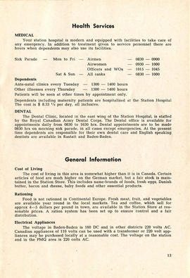 Document: 4 [F] Wing RCAF Baden-Soellingen, Germany, Information Booklet - Page 13