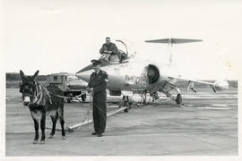 Photo: D.D. Bergie in CF104 with Donkey and Sergent