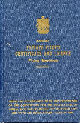 Document: Private Pilot's Certificate and License - Cover