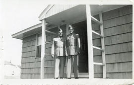 Photo: D.D. Bergie with Father on Porch