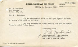 Document: Letter from RCAF Public Relations Office