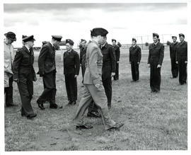 Photo: RCAF Officers Inspecting Air Cadets