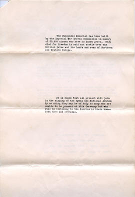 Document: Unveiling of the Runnymede Memorial Booklet - Page 2