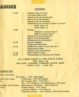 Document: RCAF Sports Day Programme - Page 2