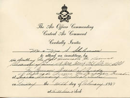 Document: Invitation from Central Air Command