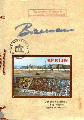 Document: Berlin Wall Certificate of Authenticity - Page 3