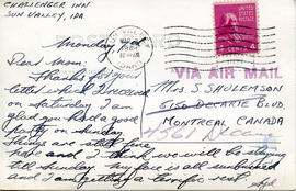 Document: Postcard to Mrs Shulemson