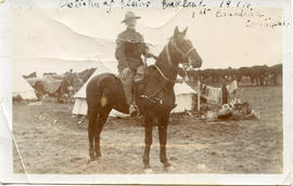Postcard: Soldier on Horse on Salsbury Plains