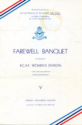 Document: Farewell Banquet Pamphlet - Cover