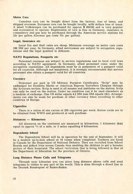 Document: 4 [F] Wing RCAF Baden-Soellingen, Germany, Information Booklet - Page 16