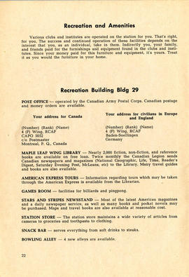 Document: 4 [F] Wing RCAF Baden-Soellingen, Germany, Information Booklet - Page 22
