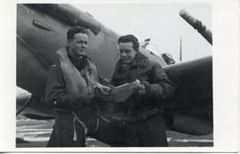 Photo: Two Airmen with Map