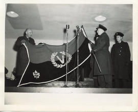 Photo: Victory Bond Flag Unfurling