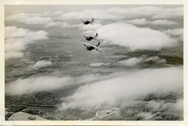 Ariel Photo: Three Avro Planes Fly in Formation