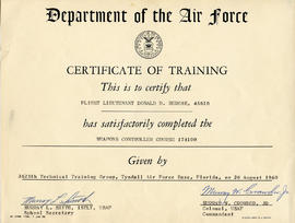 Document: Certificate of Training