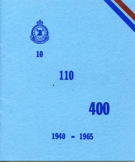 Document: 110 Squadron Anniversary Booklet - Cover