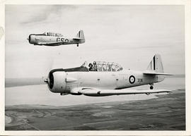 Photo: Two Harvard Aircrafts in Flight