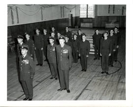 Photo: RCAF Air Cadets in Gym with Officers