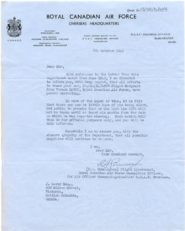 Document: Letter from RCAF Overseas HQ - October 6, 1942