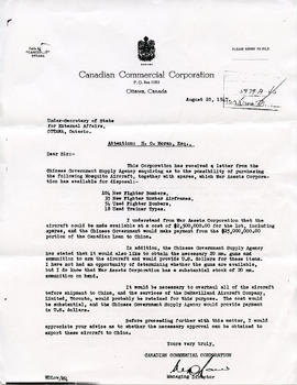 Document: Letter from Canadian Commercial Corportation