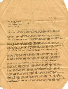 Document: Letter to Harry Bronfman - Page 1