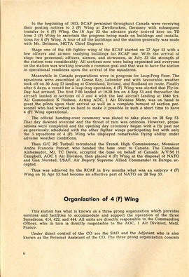 Document: 4 [F] Wing RCAF Baden-Soellingen, Germany, Information Booklet - Page 6