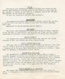 Document: The Bulletin of Shaare Zion Synagogue - Page 3