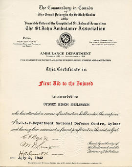 Document: First Aid Certificate
