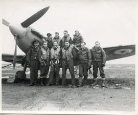 Photo: Airmen in Front of Spitfire