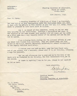 Document: Letter from Standing Committe of Adjustment - January 11, 1943
