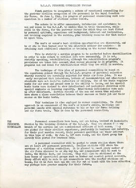 Document: RCAF Personnel Counselling Programe - Page 1