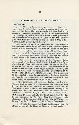 Booklet: The British Commonwealth Air Training Plan 1939-1945 (AF2012.034.007 PAGE 13)