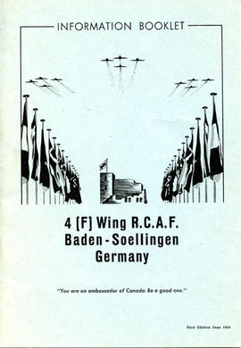 Document: 4 [F] Wing RCAF Baden-Soellingen, Germany, Information Booklet - Cover
