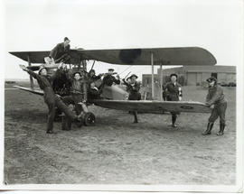 Photo: Group Photo on Tigermoth aircraft
