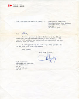 Document: Letter to Captain Ivor Bowen
