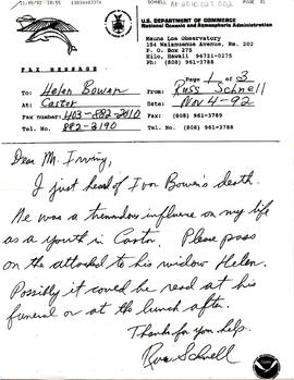 Document: Letter to Mrs. Helen Bowen - Page 1